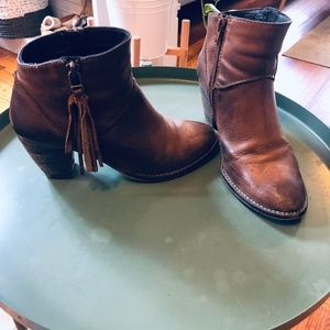Steve Madden Leather Heeled Ankle Booties